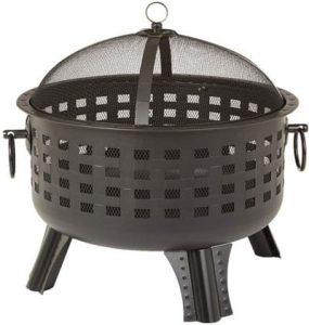 AmazonBasics 23.5 Inch Steel Lattice Fire Pit