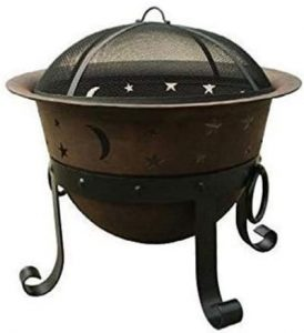 Catalina Creations 29″ Heavy-Duty Cast-Iron Fire Pit