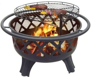 """Catalina Creations 29.5"""" Crossfire Fire Pit"""