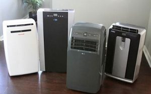 Dehumidifiers lined-up