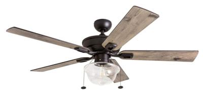 Prominence Home 80091-01 Abner Vintage IndoorOutdoor Ceiling Fan, with LED Bulb