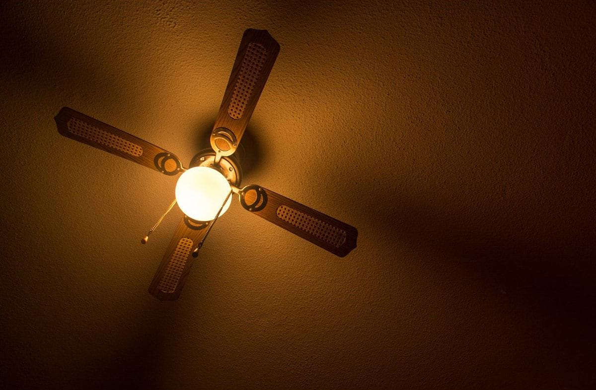 indoor ceiling fan - evening