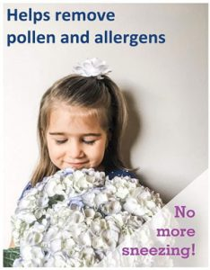 no pollen allergies because using filters