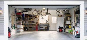open garage no car
